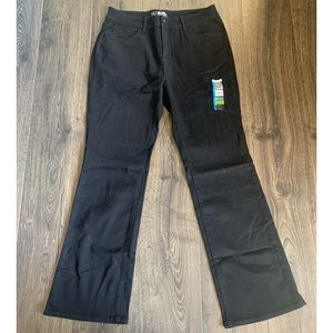 New Stretchy Mid Rise Bootcut Black Jeans